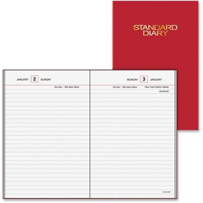 13 Standard Diary - At-A-Glance SD387-13 Standard diary daily reminder book for 2009, tel/expense, 5 x 7-1/2, red vinyl cover