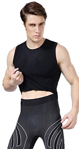 Tri-Slim Men's Outdoor body shaper quick dry vest -XL Black