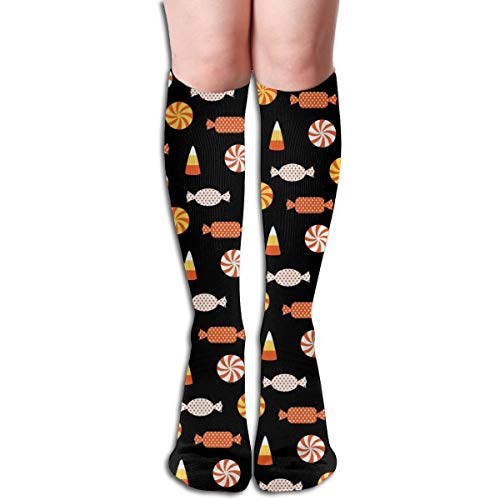 Reewer Halloween Candy Vector Image Customized Knee High Help Uniform Sports Casual Socks For Girls Football Cheerleading for $<!--$8.99-->