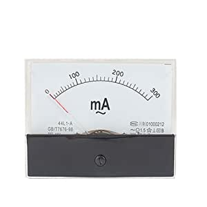 Sanweller(TM) Rectangle Panel 0-300mA AC Analog Ammeter Amper Meter