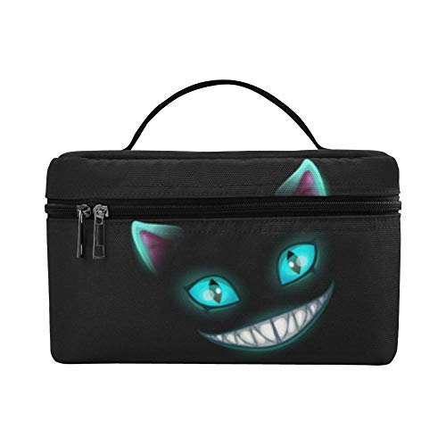 Lunch Box Durable Cosmetic Bags Disappear Cat Smile Face Big Lunch Bag Picnic Makeup Bag Organizer Outdoor For Girls Bag Makeup
