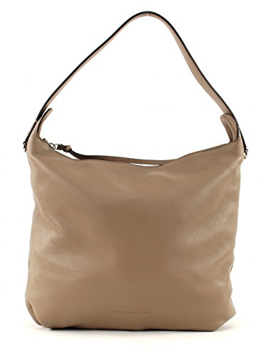COCCINELLE Pelle Vitello Hobo Bag Taupe