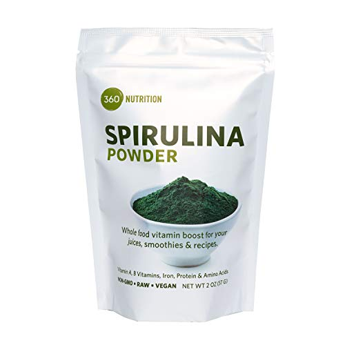 Spirulina Superfood Powder, Vitamins A, B, Iron, Protein & Amino Acids, 2 oz