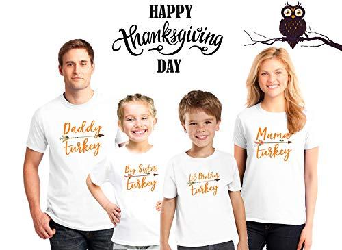 Thanksgiving family shirts, daddy turkey, mama turkey,Matching Thanksgiving Outfits - Big Sister Little Sister Turkey Shirts,Thanksgiving Gift