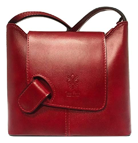 LaGaksta Isabella Leather Crossbody Bag (Red) (Isabellas Shop Handbag)