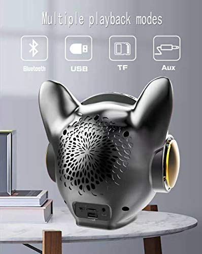 Bluetooth Speakerszhogtneg Portable Bluetooth Speaker With Hd Stereo Soundtws Built In Micfm Radio Support Tf Cardusb Diskaux Inwireless Speaker For Home Partyoutdoors Bulldog Headsilvery