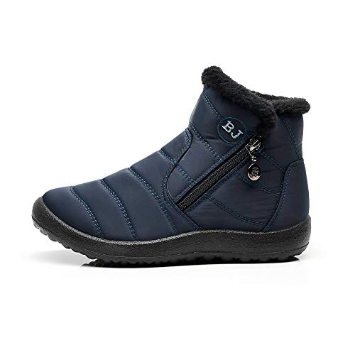 Imperméable Bottines Boots Eagsouni Fourrure Hiver La Femme Cheville Neige Pluie Neige Déales Chaudes Bleu Pour Bottes qq8Sw1xF