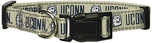 NCAA UConn Huskies Gray Large Dog Collar