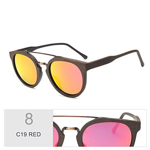 Gafas Madera Hoja TIANLIANG04 Gafas RED En Uv400 De De Gafas C19 Anti Sol Revestimiento Negro Madera De Tendencia Acetato C10 Sol Polarizadas De Retro xw8qqXI