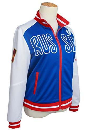Costhat High School Games Outfit Plisetsky Sports Uniform Sportswear Suit Coat Jacket Cosplay (Assassins Creed 2 Costume)