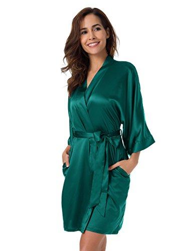 Vestaglia XXL XS da Kimono raso kimono Sleepwear Donna Pigiama Pyjamas accappatoio Alzavola SIORO Notte HBqp7