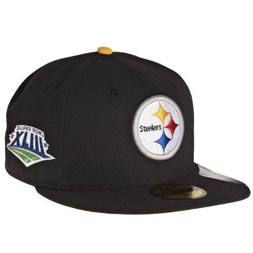 バケット実際にシマウマニューエラ (New Era) キャップ - NFL スーパーボウル XLIII ピッツバーグ?スティーラーズ (Pittsburgh Steelers) 7 1/8 (56.8cm)