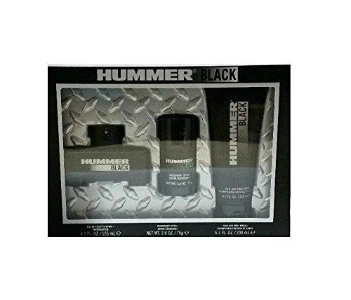 HUMMER BLACK (M) 3PC GIFT SET: HUMMER BLACK 125ML EDT SPRAY + DEO STICK + HAIR & BODY WASH 200ML (SOFT BOX (Aramis Gel Shower Gel)