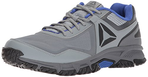 Reebok Men's Ridgerider Trail 3.0 Sneaker, Flint Grey/Alloy/Acid Blue/Black, 7 M US (7 Flint Grey)