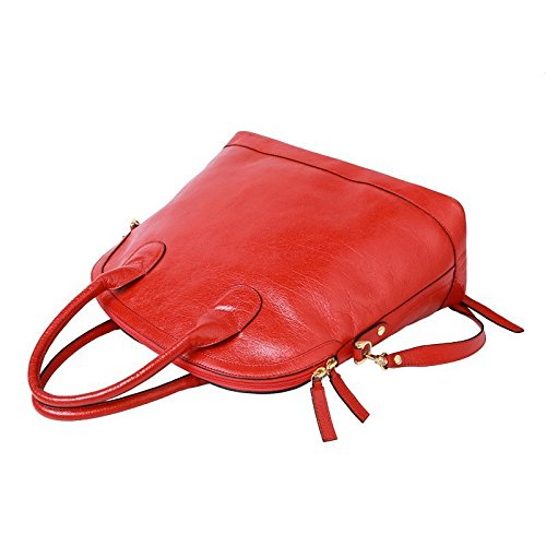 Otomoll Tasche Aus Echtem Leder Tasche Im Italienischen Stil Kopf Schicht Rindsleder Tasche Handtasche Rote TragetascheÂ