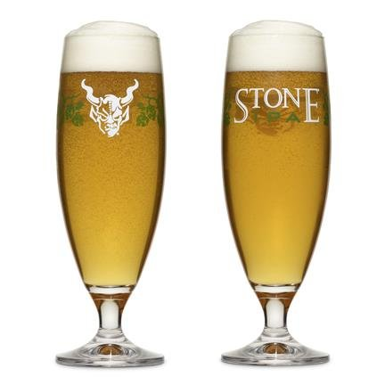 Set of 4 Stone Brewing IPA India Pale Ale Specialty Beer Glasses -