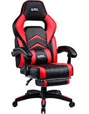Umi.Essentials Gaming Chair Racing Chair Ergonomic Computer Office Chair With Padded Footrest