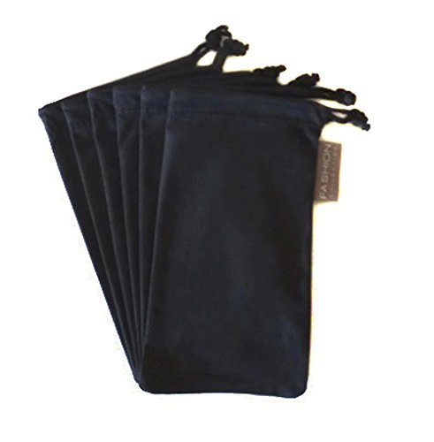 6 PC Eyewear Eyeglass Microfiber Soft Cleaning Cloth Bag Pouch Case (Microfiber Sunglass Case)