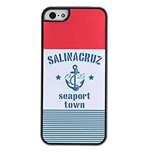 LCJ Seaport Town Pattern Hard Case for iPhone 5/5S