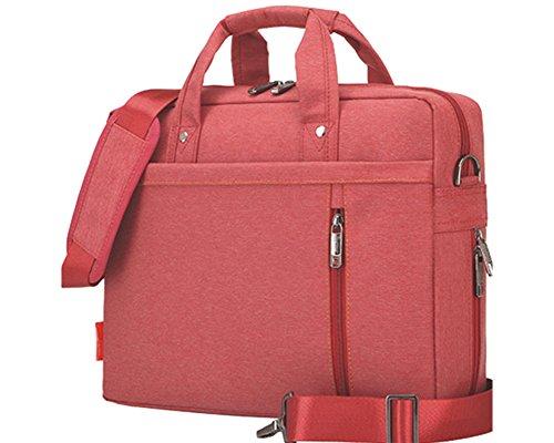 Multifuncional Portátil Hombro Bolsa Maletín Portátil de Ordenador Portátil Netbook / Chromebook / Macbook Rojo