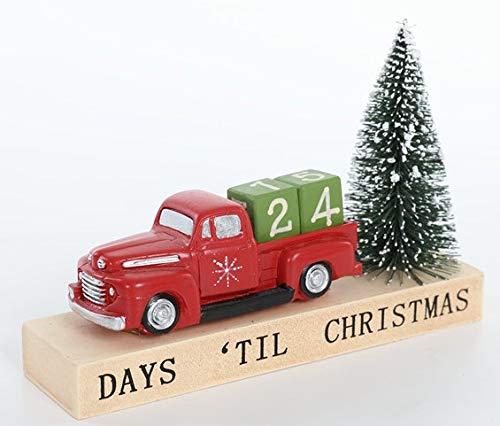 [해외]Special T Red Wood Truck & Christmas Tree Days Til Christmas Countdown Calendar / Special T Red Wood Truck & Christmas Tree Days Til Christmas Countdown Calendar