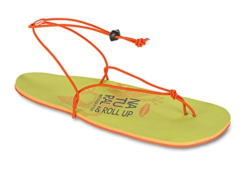 Lizard Rollup Sandale Green/Orange