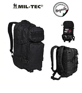 Mil-Tec Mochila Incursore Assault Small 21 L Militar Negro Lasercut Original.: Amazon.es: Deportes y aire libre
