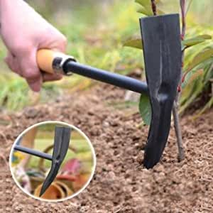 Ur garden tools wooden handle steel pickaxe for Gardening tools on amazon
