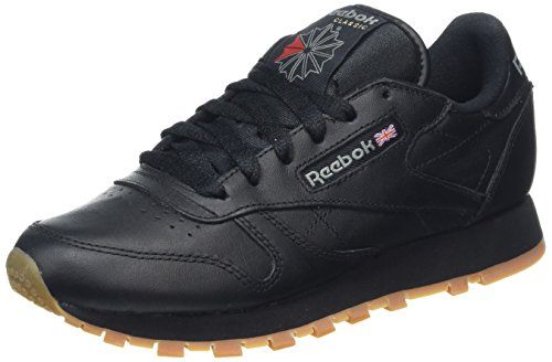 Reebok - Classic Leather, Scarpe da Ginnastica Bambino Nero (Int/Black/Gum 000)