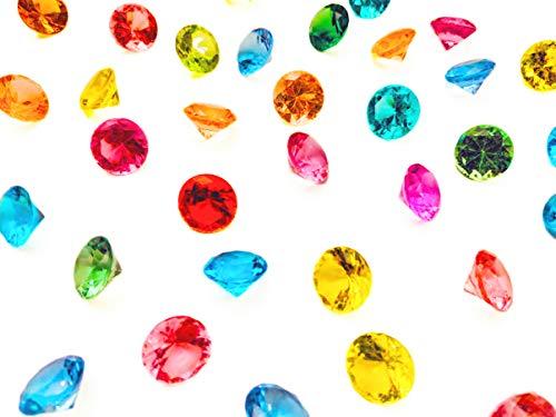 (Multi Color Assortment Acrylic Diamond Plastic Jewels, 9 Different Unique Colors Party Decoration Gift Assortment Vase Filler (300 pcs))