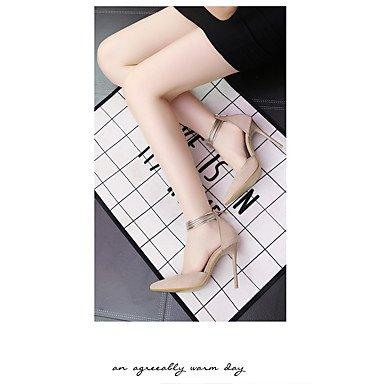 RUGAI-UE Moda de Verano Mujer sandalias casuales zapatos de tacones PU Confort pasear al aire libre,verde,US5.5 / UE36 / UK3.5 / CN35 Khaki
