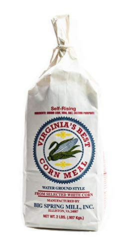 Big Spring Mill Self-Rising White Corn Meal (Virginia's Best, Water Ground Style, Made From Select White Corn) - Great for Cornbread, Corn Muffins, Hushpuppies and Spoon Bread!