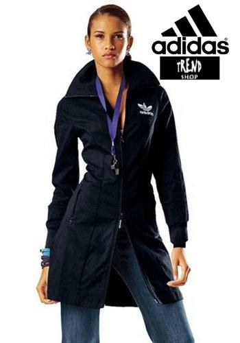 Mantelkleid von Adidas Mantel Kleid SCHWARZ mit Logo WEISS