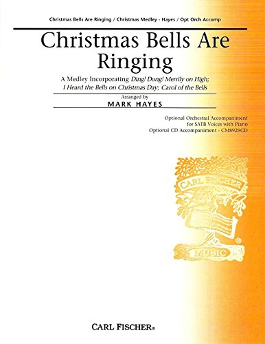 Christmas Tenor Cello - Christmas Bells Are Ringing - - Mark Hayes - Carl Fischer - Flute, Piccolo, Oboe, Clarinet, Bassoon, Horn I, Horn II, Trumpet I, Trumpet II, Tenor I, Tenor II, Tuba, Suspended Cymbal, Crash Cymbal, Triangle, Snare Drum, Sleigh Bells, Bells, Chimes, Harp, Piano, Violin I, Violin II, Viola, Cello, Contrabass - SATB - CM8929IN