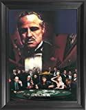 THE GODFATHER 3D Poster Wall Art Framed - Mob Bosses Sopranos Scarface Goodfellas Al Pacino Movie Print Mural - 14.5x18.5'' - Cool Unique Gifts Collectible Memorabilia Art Decor Picture