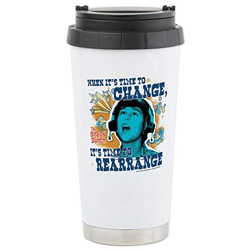 (CafePress The Brady Bunch: Time T Stainless Steel Travel Mug Stainless Steel Travel Mug, Insulated 16 oz. Coffee Tumbler)