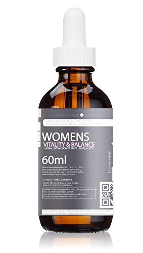 Damiana Leaf Extract (Women's Vitality & Balance Herbal Extract (Organic Pineapple, Raspberry, Super-Damiana, Dong Quai, plus Organic Blackberry) Natural Blend, Alcoholic-Free)