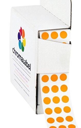 "1/4"" Orange Color-Coding Dot Stickers | Permanent Adhesive,"