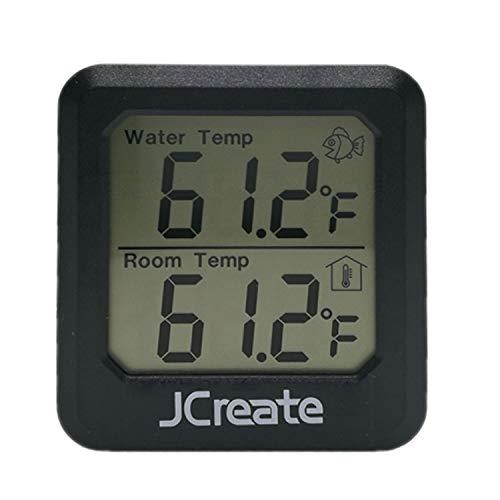 (Capetsma 2 in 1 Aquarium Thermometer, Digital Fish Tank Thermometer and Indoor Thermometer with Accurate Temperature Sensor, simultaneously Display Water Temperature and Air Temperature)