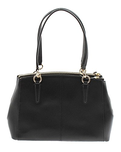 Crossgrain Leather Black Carryall Christie Coach in q6wOtt4RUx