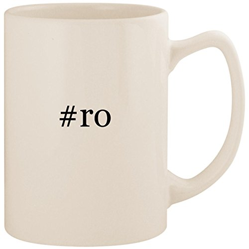 #ro - White Hashtag 14oz Ceramic Statesman Coffee Mug Cup