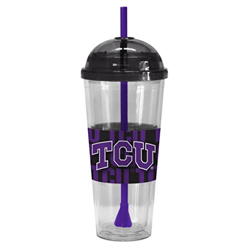 NCAA TCU Horned Frogs Bold Dome Straw Tumbler, 22-ounce