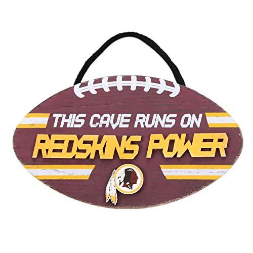FOCO NFL Washington Redskins Football Signfootball Sign, Team Color, One ()