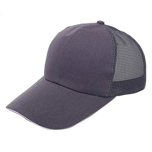 Cómodo 55 Exteriores Gris y Algodón para Ajustable Transpirable Mackur Unisex de 60CM Unidad 1 Oscuro Béisbol Negro Sombrero wxa8qY6z