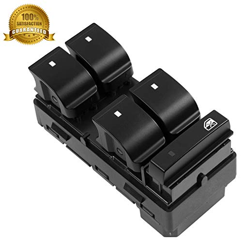Driver Front Left Side Master Control Power Window Switch 4 Door 20945129 D1954F 25789692 25951963 for 2007-2013 Chevrolet Chevy Silverado GMC Sierra 1500 2500 3500 Traverse HHR -12 MONTHS WARRANTY
