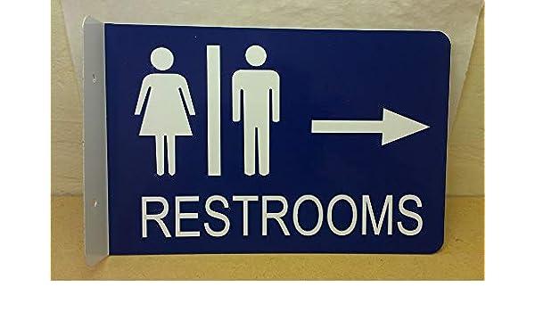 "Garage Business Home Decor 3/""x18/"" Right arrow Metal Street Sign Restroom"