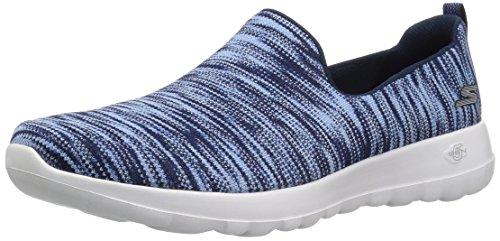 Glæde Uden Blå Sneakers Snørebånd marineblå Hvid Nvw Skechers Womens Fantastisk Gå Tur XqwnBpE