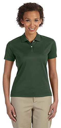 Devon & Jones Women's Jet Pique Polo Shirt, Forest Green, Small - Ladies Pima Pique Sport Shirt