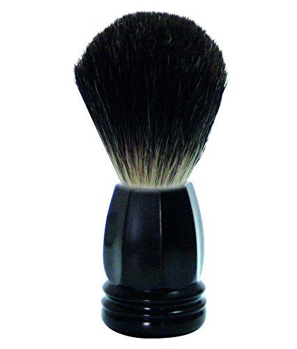 GOLDDACHS Shaving Brush, 100% Badger hair, Polymer matt black