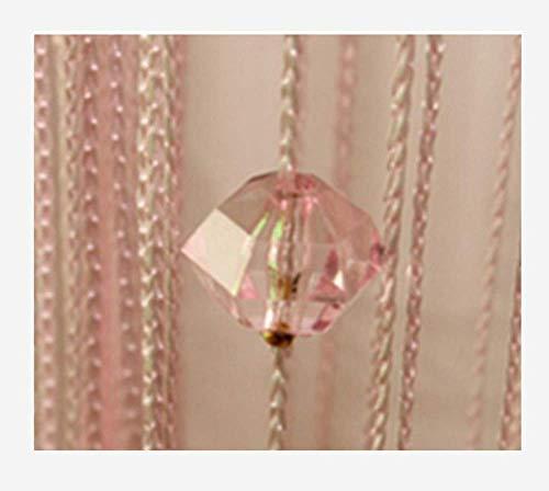 Eve Split Decorative Door String Curtain Wall Panel Fringe Window Room Divider Blind for Wedding Coffee House Restaurant Parts Crystal Tassel Screen Home Decoration (pink002)